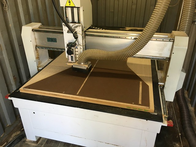laguna cnc router with wood on it