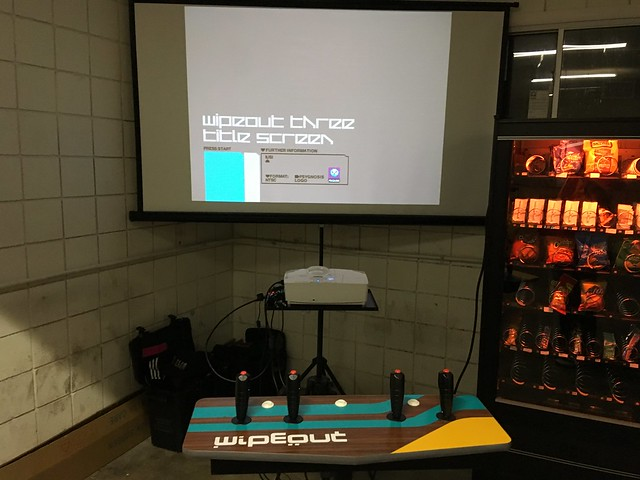 wipeout 3 console and projector