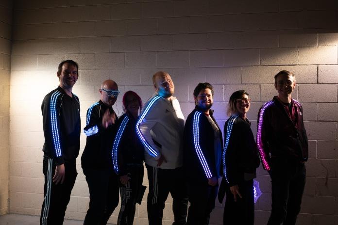 Seven LED track jackets